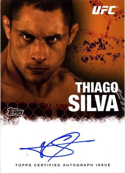 Topps UFC 2010 Championship Thiago Silva Autograph Card FA-TS