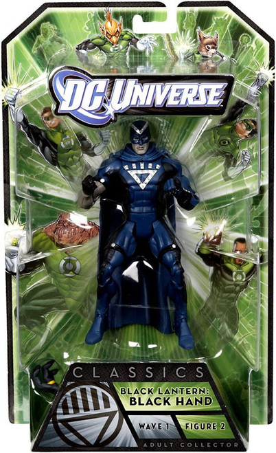 DC Universe Green Lantern Classics Series 1 Black Hand Action Figure [Black Lantern]