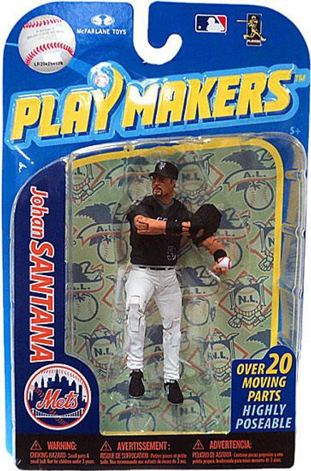 McFarlane Toys MLB New York Mets Playmakers Series 2 Johan Santana Action Figure