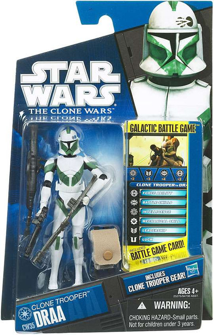 Star Wars The Clone Wars 2010 Clone Trooper Draa Action Figure CW35