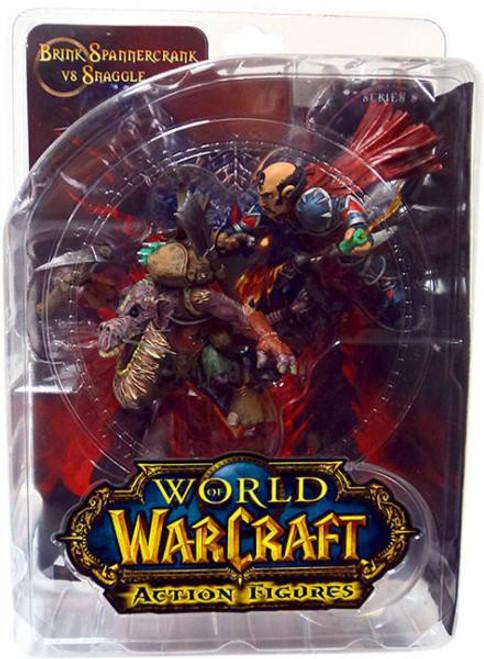 World of Warcraft Series 8 Brink Spannercrank Vs. Kobold Miner Action Figure 2-Pack [Gnome Rogue]