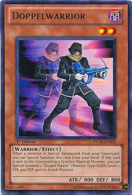 YuGiOh YuGiOh 5D's Storm of Ragnarok Rare Doppelwarrior STOR-EN002