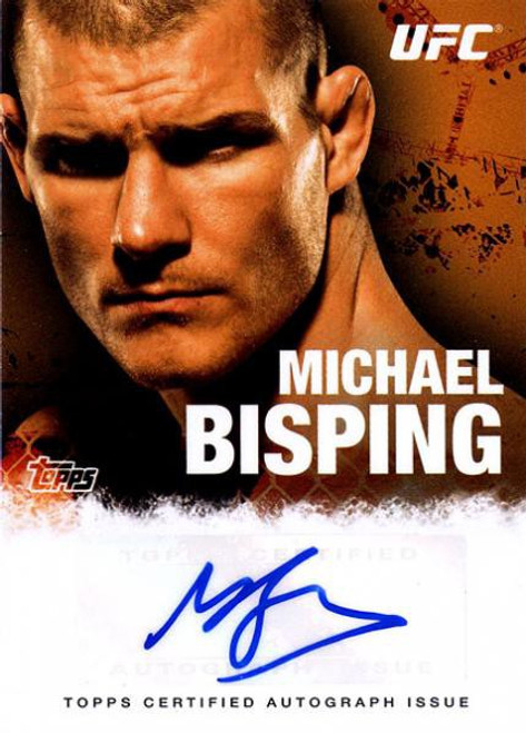 Topps UFC 2010 Championship Michael Bisping Autograph Fighters & Personalities Autograph Card FA-MB