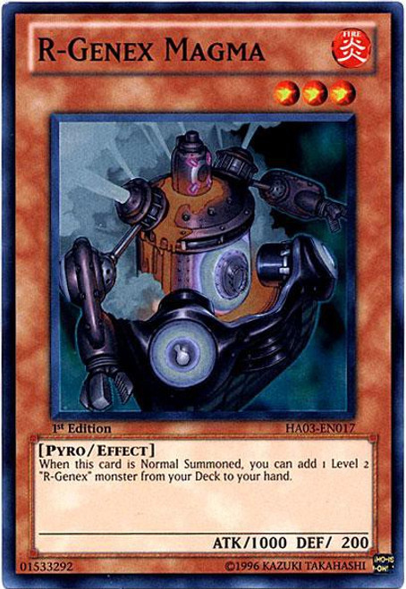 YuGiOh YuGiOh 5D's Hidden Arsenal 3 Super Rare R-Genex Magma HA03-EN017