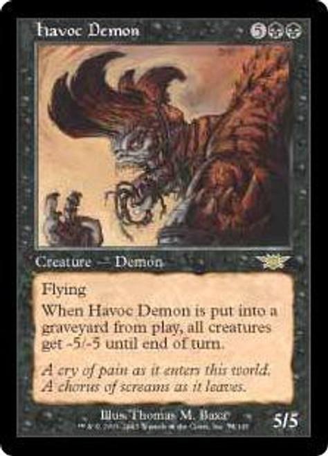 MtG Legions Rare Havoc Demon #74