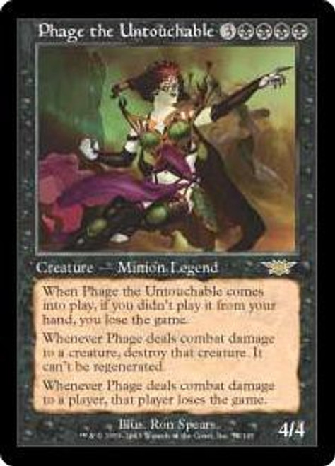 MtG Legions Rare Phage the Untouchable #78