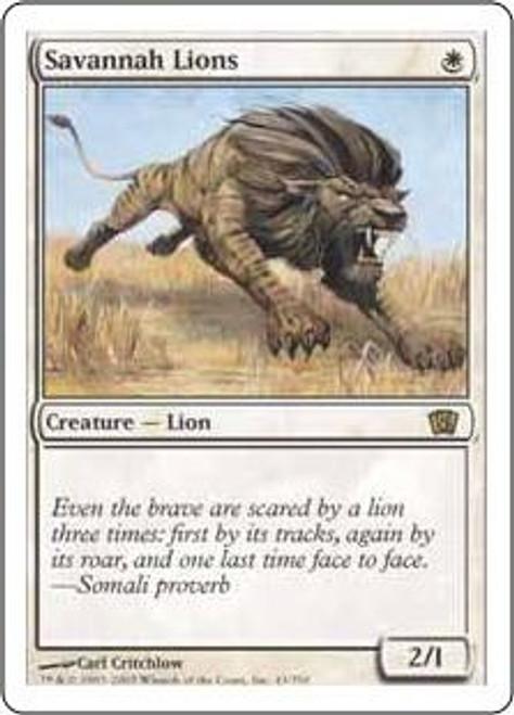 MtG 8th Edition Rare Savannah Lions #43