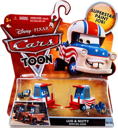 Disney / Pixar Cars Cars Toon Main Series Lug & Nutty with Oil Cans Diecast Car #22 & 23