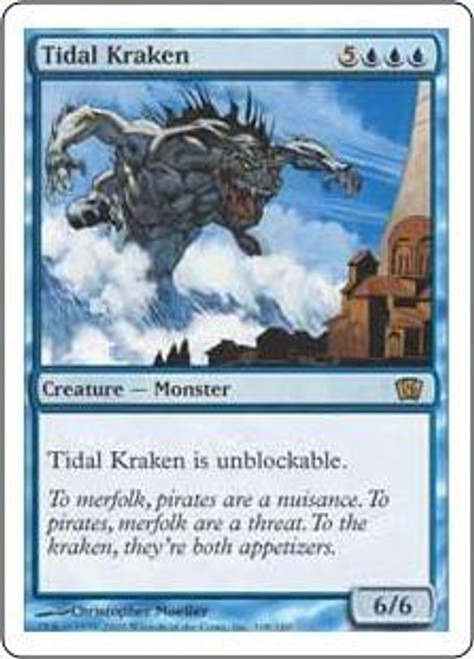 MtG 8th Edition Rare Tidal Kraken #108
