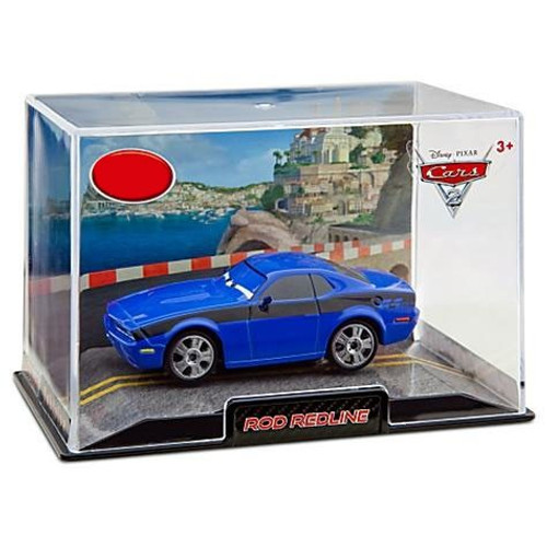 Disney / Pixar Cars Cars 2 1:43 Collectors Case Rod Redline Exclusive Diecast Car