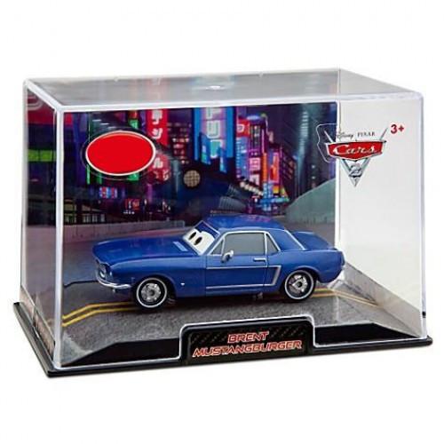 Disney / Pixar Cars Cars 2 1:43 Collectors Case Brent Mustangburger Exclusive Diecast Car