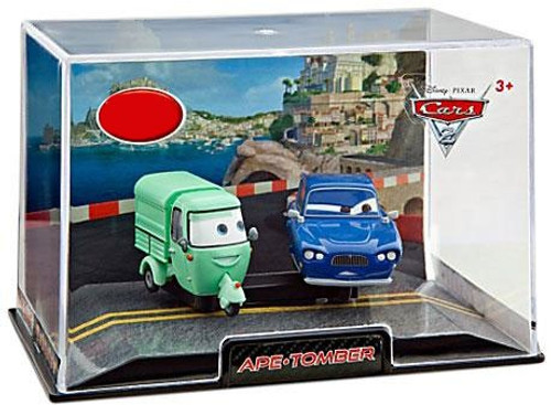 Disney / Pixar Cars Cars 2 1:43 Collectors Case Ape & Tomber Exclusive Diecast Cars