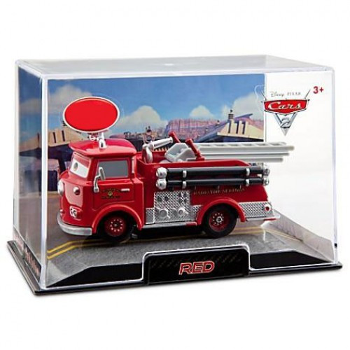 Disney / Pixar Cars Cars 2 1:43 Collectors Case Red the Firetruck Exclusive Diecast Car