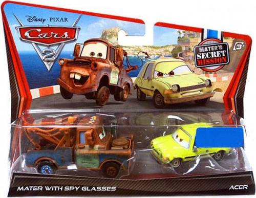 Disney / Pixar Cars Cars 2 Mater with Spy Glasses & Acer Exclusive Diecast Car 2-Pack