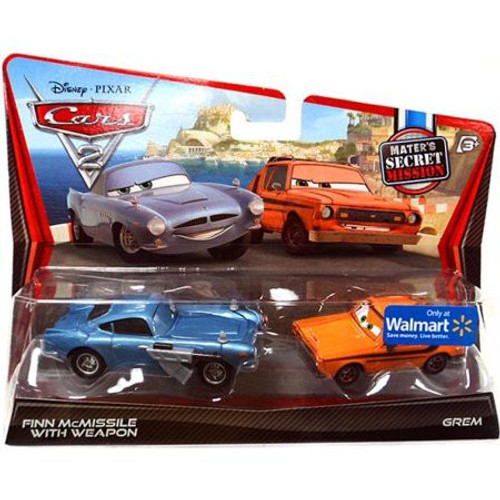 Disney / Pixar Cars Cars 2 Finn McMissile with Weapon & Grem Exclusive Diecast Car 2-Pack