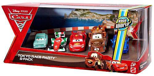 Disney / Pixar Cars Cars 2 Multi-Packs Tokyo Race Party 5-Pack Exclusive Diecast Car Set