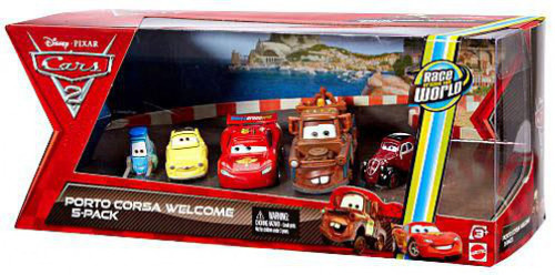Disney / Pixar Cars Cars 2 Multi-Packs Porto Corsa Welcome 5-Pack Exclusive Diecast Car Set