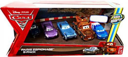 Disney / Pixar Cars Cars 2 Multi-Packs Paris Scene Espionage 5-Pack Exclusive Diecast Car Set