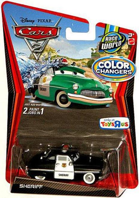Disney / Pixar Cars Cars 2 Color Changers Sheriff Exclusive Diecast Car