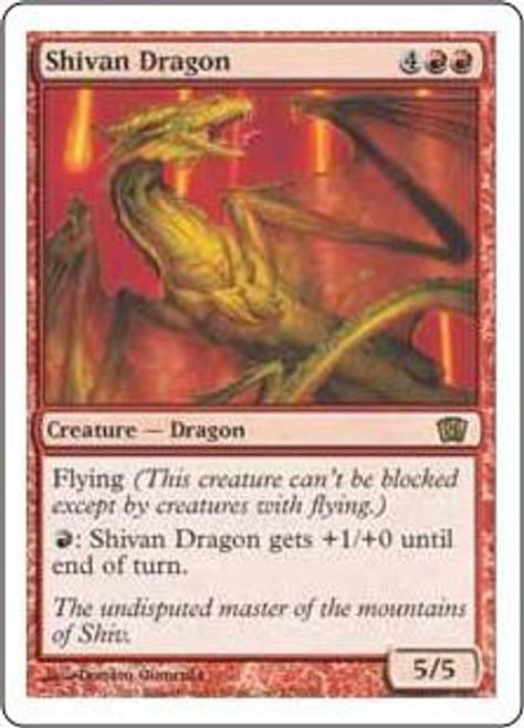 MtG 8th Edition Rare Shivan Dragon #221