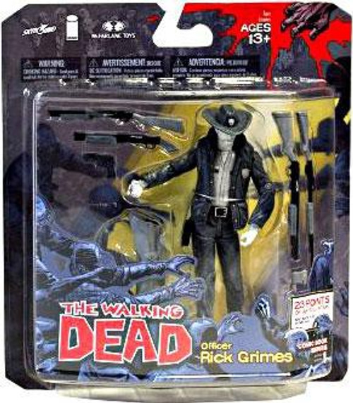McFarlane Toys The Walking Dead Comic Series 1 Officer Rick Grimes Exclusive Action Figure [Black & White Variant]