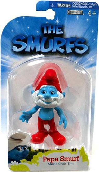 The Smurfs Movie Grab 'Ems Papa Smurf Mini Figure