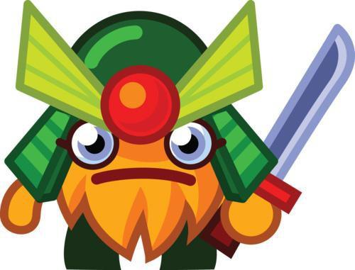 Moshi Monsters Moshlings Series 1 General Fuzuki 1.5-Inch Mini Figure #82