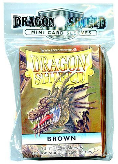 Card Supplies Dragon Shield Brown Small Card Sleeves [50 Count]