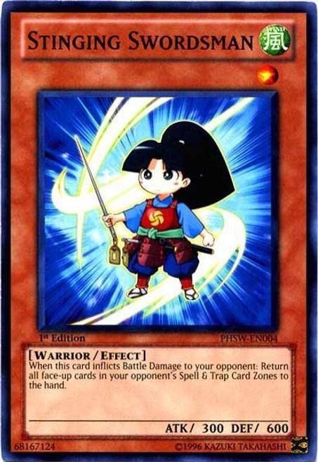 YuGiOh Trading Card Game Photon Shockwave Common Stinging Swordsman PHSW-EN004