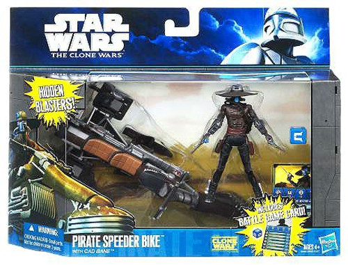 Star Wars The Clone Wars Pirate Speeder Bike with Cad Bane Vehicle & Action Figure