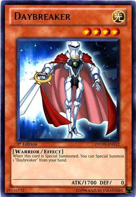 YuGiOh Trading Card Game Photon Shockwave Rare Daybreaker PHSW-EN012