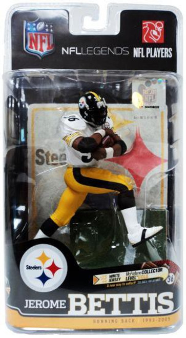 McFarlane Toys NFL Pittsburgh Steelers Sports Picks Legends Series 6 Jerome Bettis Action Figure [White Jersey]