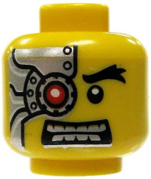 Left-Side Cyborg Parts Minifigure Head [Yellow Loose]