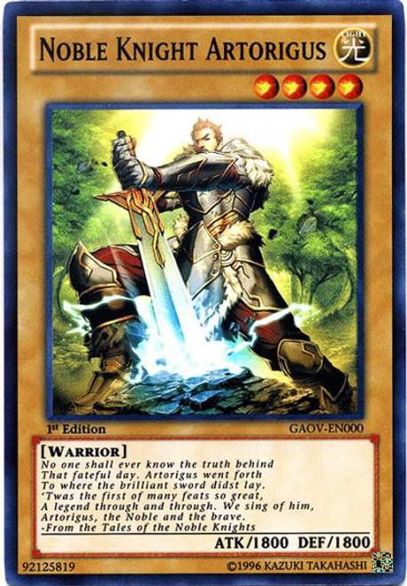 YuGiOh 5D's Galactic Overlord Super Rare Noble Knight Artorigus GAOV-EN000