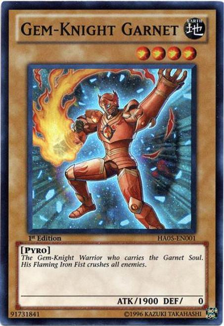 YuGiOh YuGiOh 5D's Hidden Arsenal 5: Steelswarm Invasion Super Rare Gem-Knight Garnet HA05-EN001