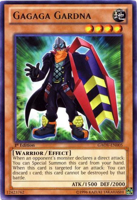 YuGiOh YuGiOh 5D's Galactic Overlord Rare Gagaga Gardna GAOV-EN005