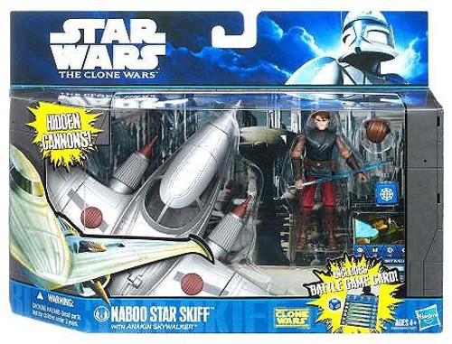 Star Wars The Clone Wars Naboo Star Skiff with Anakin Skywalker Vehicle & Action Figure