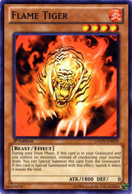 YuGiOh YuGiOh 5D's Galactic Overlord Common Flame Tiger GAOV-EN039
