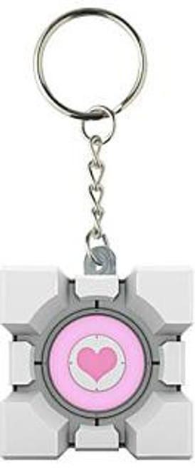 Portal 2 Vinyl Companion Cube Keychain