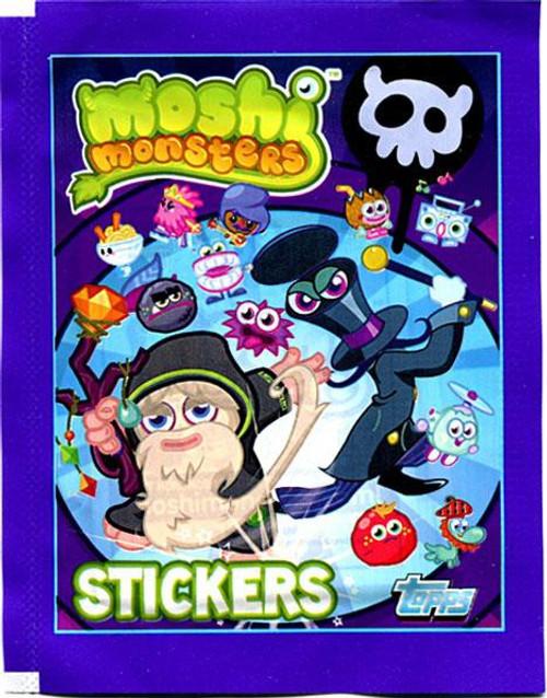 Moshi Monsters Topps Series 2 Sticker Pack [Purple]
