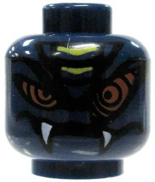 Dark Blue Serpentine Face with Swirling Eyes Minifigure Head [Loose]