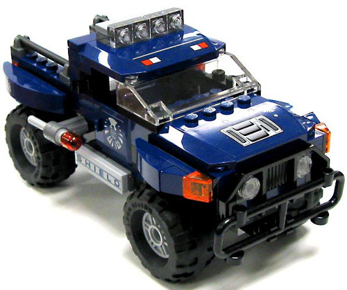 LEGO Marvel Super Heroes Large Dark Blue SHIELD Truck Loose Vehicle #2 [Loose]