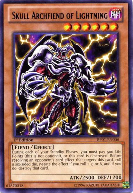 YuGiOh Battle Pack: Epic Dawn Rare Skull Archfiend of Lightning BP01-EN006