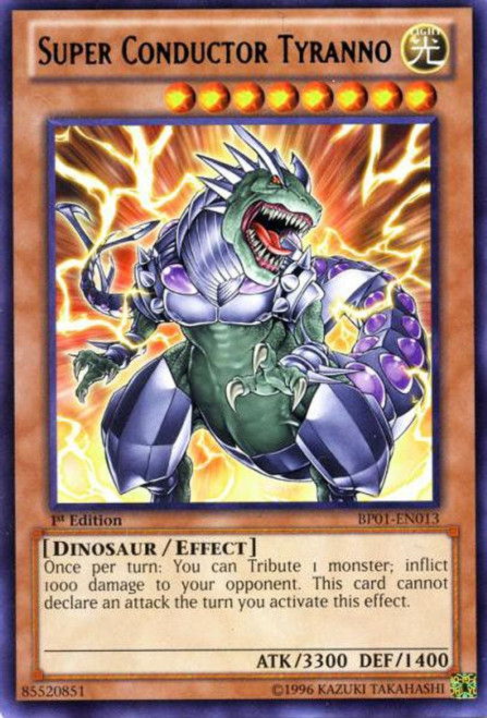 YuGiOh Battle Pack: Epic Dawn Rare Super Conductor Tyranno BP01-EN013