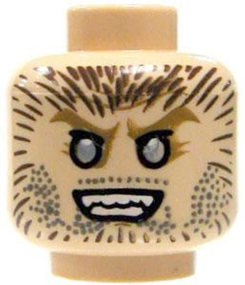 Snarling Werewolf / Wide-Eyed Stare Minifigure Head [Dual-Sided Print Loose]
