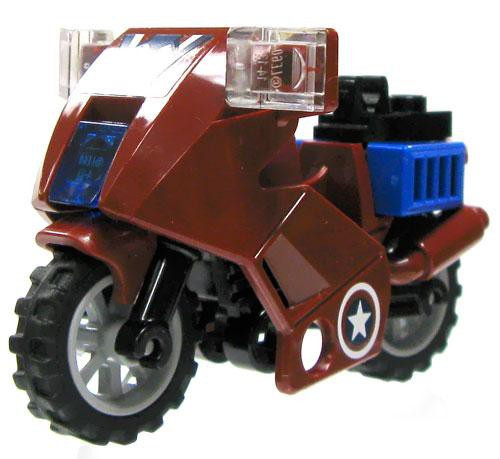 LEGO Marvel Super Heroes Dark Red & Blue Motorcycle Loose Vehicle #2 [Loose]