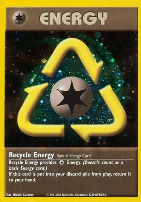 Pokemon Trading Card Game Promo Rare Holo Recycle Energy