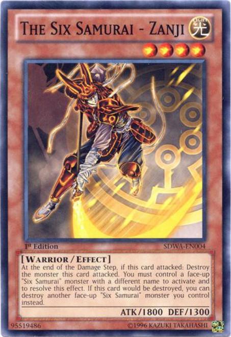 YuGiOh Trading Card Game Samurai Warlords Structure Deck Common The Six Samurai - Zanji SDWA-EN004