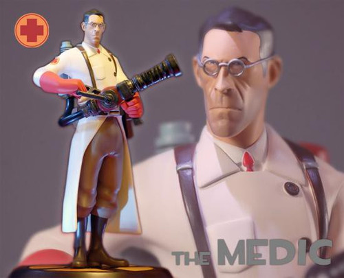 Team Fortress Red Medic 13-Inch Statue