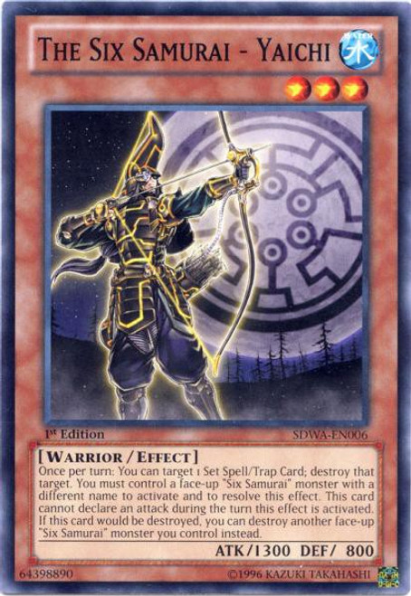 YuGiOh Trading Card Game Samurai Warlords Structure Deck Common The Six Samurai - Yaichi SDWA-EN006